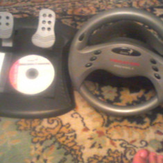 Volan (speed wheel 3 vibration)-pedale compatibile + CD original Genius