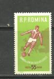 Romania 1962  - FOTBAL, timbru nestampilat A85, Sport