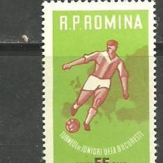 Romania 1962  - FOTBAL, timbru nestampilat, B31