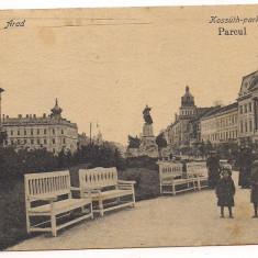 Carte postala(ilustrata)-ARAD -Parcul - Carte Postala Crisana dupa 1918, Circulata, Printata