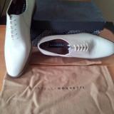 Pantofi originali fratelli rosetti - Pantofi barbat, Culoare: Crem, Piele naturala