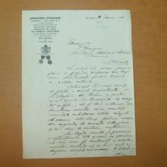 Scrisoare cu antet ARGINTARIA PFORZHEIM catre Director Ion Georgescu Piatra Neamt 1932 - Hartie cu Antet