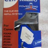 1184plu Kit refill pt 3 incarcari cartus negru Canon CLI-8BK Pelikan Power Pad cu sistem smart de autoincarcare instructiuni de folosire in ambalaj or