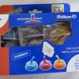 1188plu Kit refill pt 3 incarcari cartuse color Canon CLI-8C CLI-8M CLI-8Y Pelikan Power Pad cu sistem smart de autoincarcare instructiuni de folosire