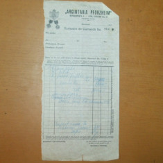 Scrisoare de comanda nr 866 cu antet ARGINTARIA PFORZHEIM Bucuresti Strada Coltei 6 - Hartie cu Antet