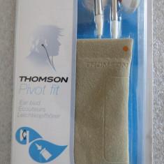 CS63 Casti Thomson jack suflat cu aur 3.5mm cablu 1.2m frecventa de raspuns 20-20000hz sensitivitate 102dB impedanta 16ohm 20mW dimensiune 15mm si hus, Casti In Ear, Cu fir, Mufa 3, 5mm