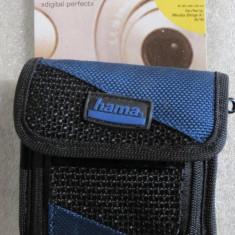 1172plu Geanta aparat foto camera bag Hama Digital Perfect super captusita cu buzunar accesorii cu fermoar dimensiuni interioare 85x50x20mm