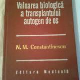 VALOAREA BIOLOGICA A TRANSPLANTULUI AUTOGEN DE OS  ~ N.M.CONSTANTINESCU