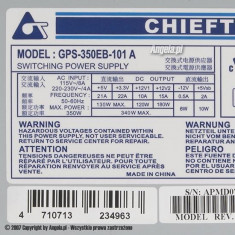 Vand sursa Chieftec GPS-350EB 101A, 350 watti reali - Sursa PC