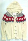 Pulover dama de lana cu gluga si nasturi Old Navy masura 48(XL), nou, Alb