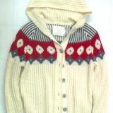 Pulover Jacheta de lana groasa cu gluga si nasturi Old Navy masura 48(XL), NOUA, Alb