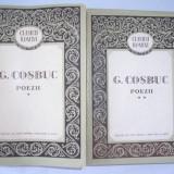 GEORGE COSBUC - POEZII, VOL 1-2, EDITIE AMPLA, 1957, RF1/3 - Carte poezie