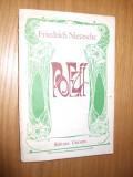 FREDRICH NIETZSCHE - Poezii - Editura Univers, 1980,   214 p.