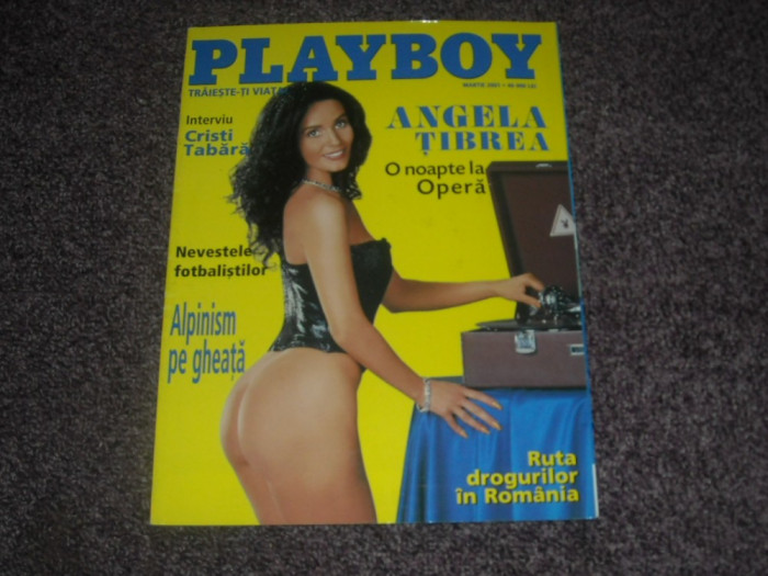 Revista Playboy - Angela Tibrea - 2001 martie - anul 3, numarul 3 foto mare