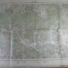 27 - HARTA MILITARA  - ZONA SAVARSIN - SERVICIUL GEOGRAFIC AL ARMATEI 1926