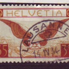 1929 elvetia 233 stampilate