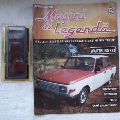 Revista Deagostini (Masini de colectie) + Macheta Wartburg 353 (sigilata) 1/43 !