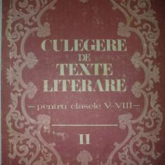 Culegere de texte literare pentru clasele V-VIII V. 2 - Vasile Teodorescu - Carte de aventura
