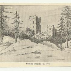 RUINELE CETATII CICEU (BISTRITA-NASAUD) IN 1866 - interbelica
