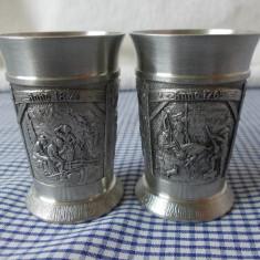 2 PAHARE MICI DIN ZINC-95% - Metal/Fonta