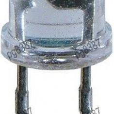 LED 10 mm superluminos,rotund, transparent, albastru, 0,3 W-146004