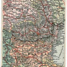 1302 - HARTA - RO - Craiova, Alexandria, Pitesti, Turnu Magurele, Ploiesti, Constanta - old PC - unused - Harta Romaniei