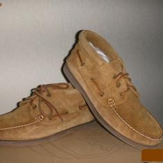 OFERTA! Ghete barbat TIMBERLAND originale noi piele intoarsa camel vintage 42.5 - Ghete barbati