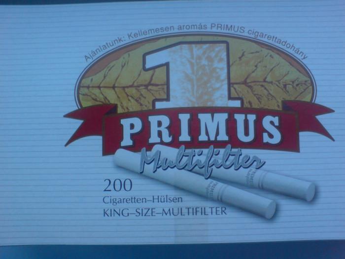 Tuburi tigari  Primus Multifilter ( Multifiltru carbune ) pentru injectat tutun foto mare