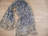 Esarfa ANIMAL PRINT 100% MATASE NATURALA