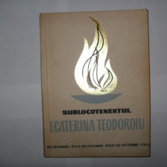 Sublocotenentul Ecaterina Teodoroiu - Istorie