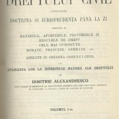 D.Alexandresco / PRINCIPIILE DREPTULUI CIVIL ROMAN - vol.I, editie 1926 - Carte Drept civil