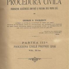 George G.Tocilescu / CURS DE PROCEDURA CIVILA - vol.III,partea III, editie 1895