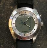 Vand ceas fosil, Quartz, Inox, Piele - imitatie, Swatch