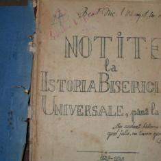 Notite la Istoria Bisericii Universale , pana la 1054- {1929}