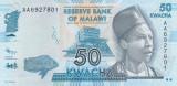 Bancnota Malawi 50 Kwacha 2012 - P58a UNC