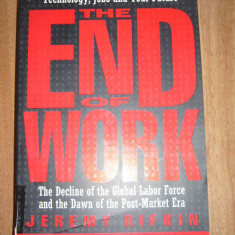 THE END OF WORK JEREMY RIFKIN
