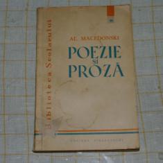 Al. Macedonski - Poezie si proza - Editura Tineretului - 1960 - Carte poezie copii