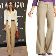 Pantaloni evazati CREOLA by Zara (made in Spain), office, cu dunga, noi cu eticheta de hartie, S 36, PE GRI, ALB SI BEJ!! - COMANDA MINIM 40 LEI!! - Pantaloni dama Zara, Lungi, Bumbac