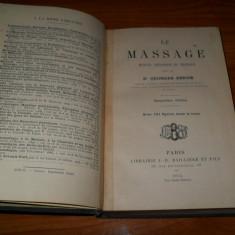 Georges Berne -Les Masages/Masajul 1914 - Carte in franceza