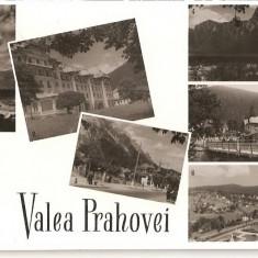 CPI (B860) VALEA PRAHOVEI ( BREAZA, SINAIA, POIANA TAPULUI, BUSTENI, AZUGA, PREDEAL) ED. MERIDIANE, CPCS, ILUSTRATA CIRCULATA, 1960, STAMPILE, TIMBRU - Carte Postala Muntenia dupa 1918, Fotografie
