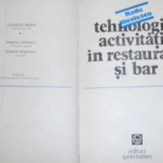 Tehnologia activitatii in restaurant si bar - Radu Nicolescu - Certificare