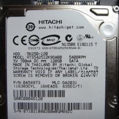 Hard Disk Leptop - HDD laptop Hitachi, 100-199 GB, Rotatii: 5400, SATA, 8 MB