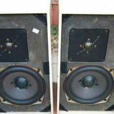 Boxe Grundig Hifi-Box 306A, albe, superbe