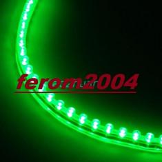 Banda led flexibila, verde, 24 cm, 24 led-uri, angel-eyes, rezistenta la apa, Universal