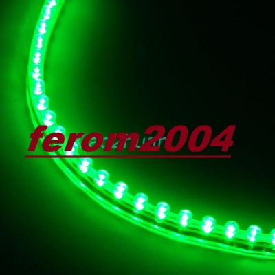 Banda led flexibila, verde, 24 cm, 24 led-uri, angel-eyes, rezistenta la apa foto