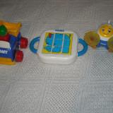 Tomy - set 3 jucarii - Push'n GO - Masinuta de plastic, avion si puzzle de plastic 6 luni+