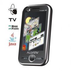 Telefon allview dual sim +tv & radio free, Negru, Touchscreen, Bluetooth: 1, E-mail: 1