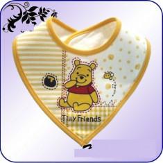Bavetica tip WINNIE THE POOH, 100 % bumbac, accesorii pentru masa bebelusilor, bavete