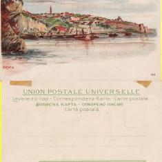 Harsova, Hirsova ( Constanta) - Litografie (litho) - Dobrogea-rara - Carte Postala Dobrogea pana la 1904, Circulata, Printata