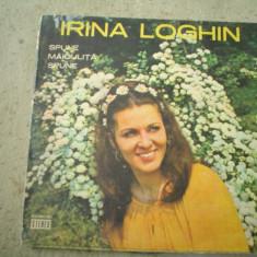 Irina Loghin Spune maiculita spune disc vinyl lp Muzica Populara electrecord folclor, VINIL